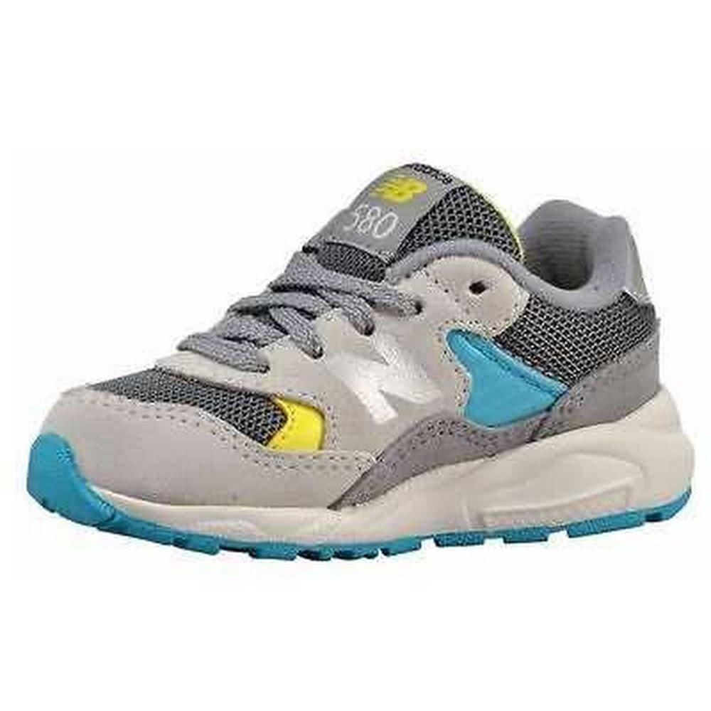 Scarpe Sneakers New Balance 580 KL580GYI-GRIGIO/GIALLO Bambino   eBay