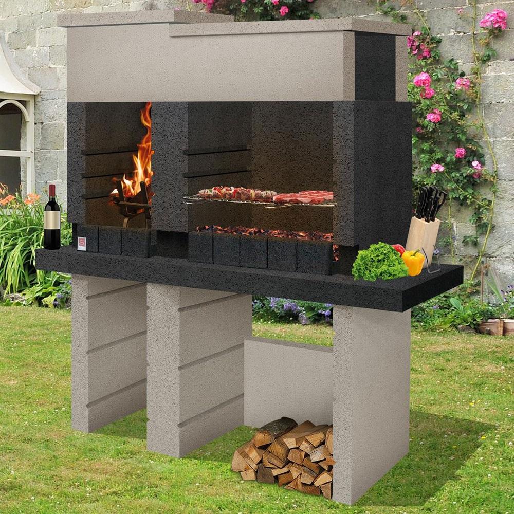 Barbecue In Muratura Immagini dettagli su barbecue a muratura san pedro sarom in calcestruzzo alleggerito  carbonella legna