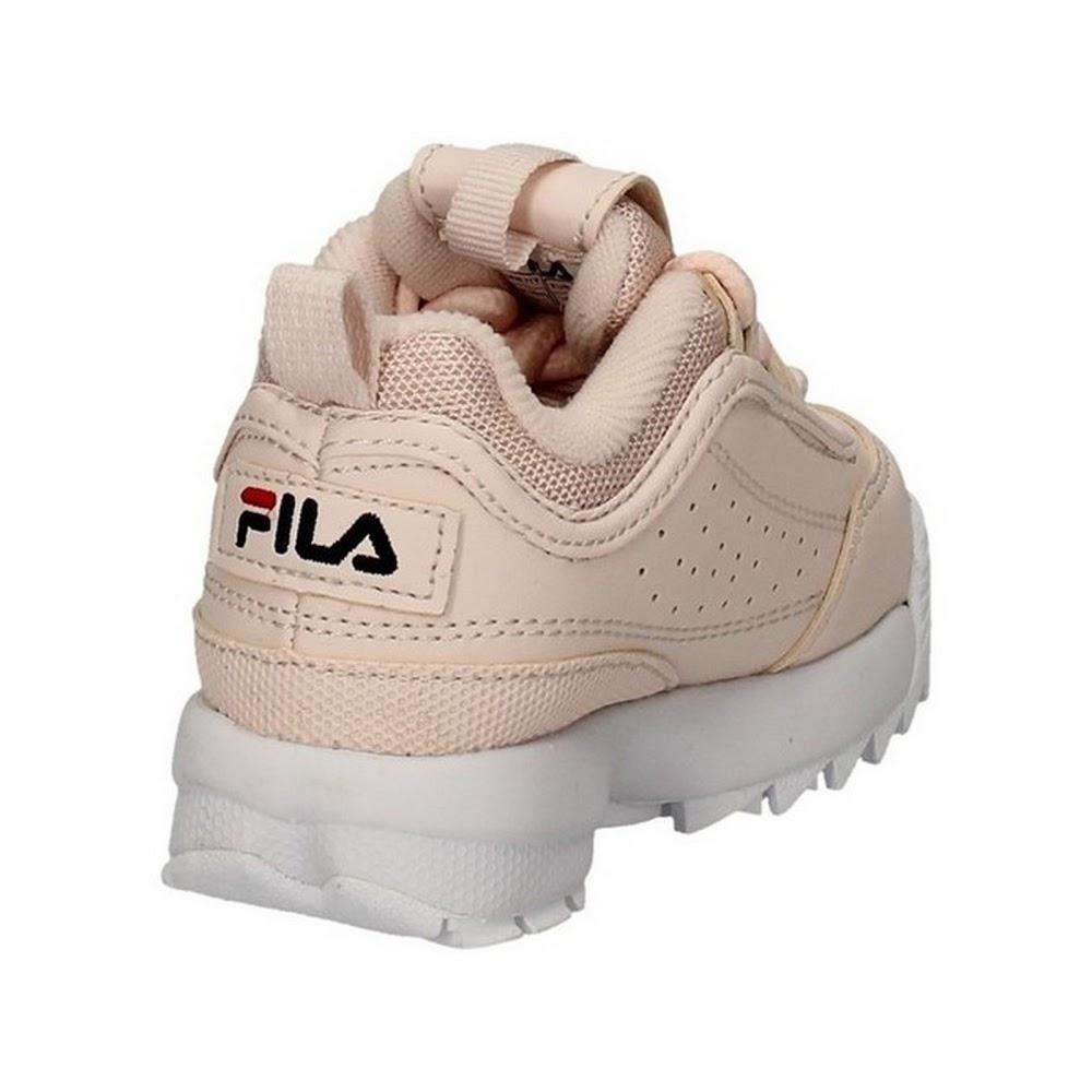 miniatura 3 - Scarpe per bambine e ragazze Unisex Fila DISRUPTOR INFANTS Bianco 1010826-1FG