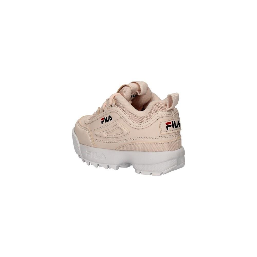 miniatura 4 - Scarpe per bambine e ragazze Unisex Fila DISRUPTOR INFANTS Bianco 1010826-1FG