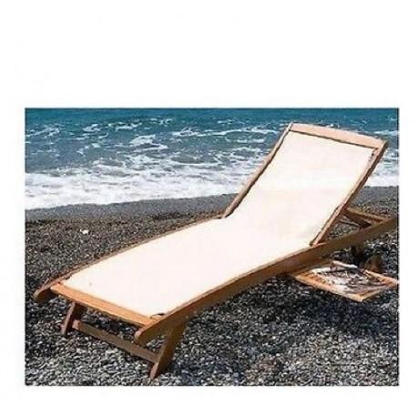 Lettino Arredo Giardino.Dettagli Su Lettino Textile In Legno Keruing In Olio Da Spiaggia Mare Arredo Giardino