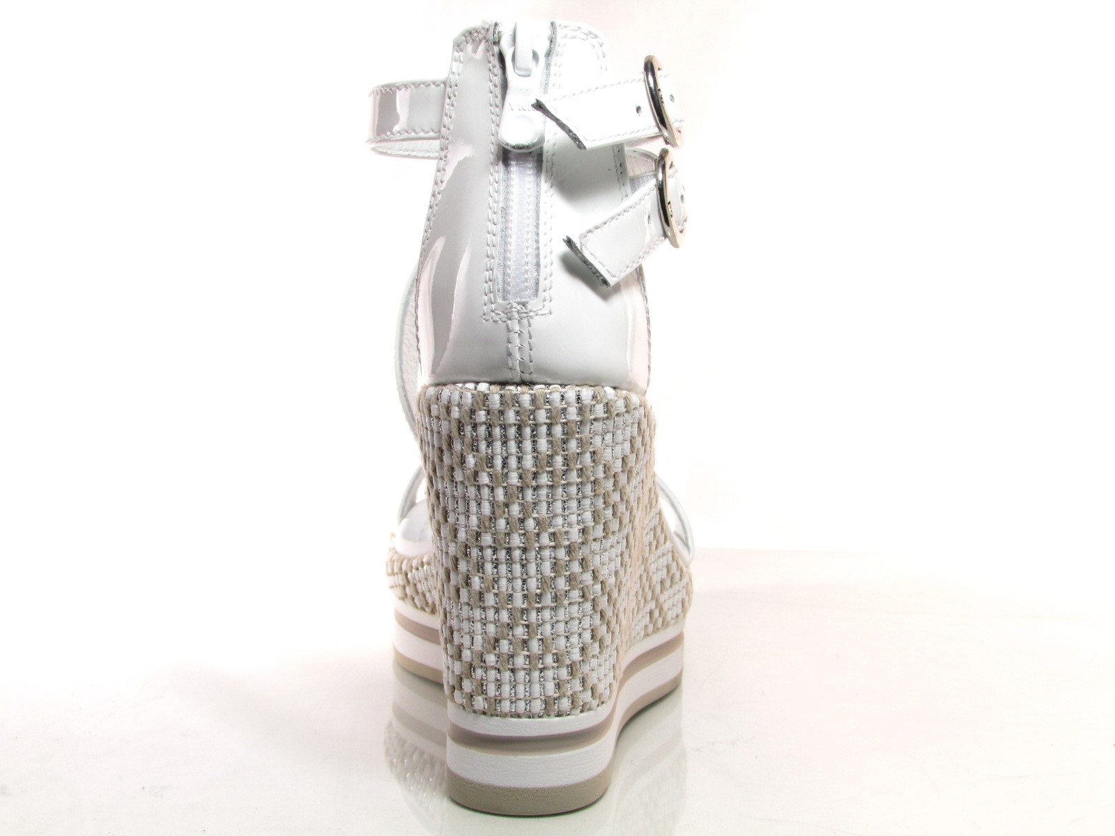 Nero Giardini P805900D sandali donna zeppa alta 10 cm naplak
